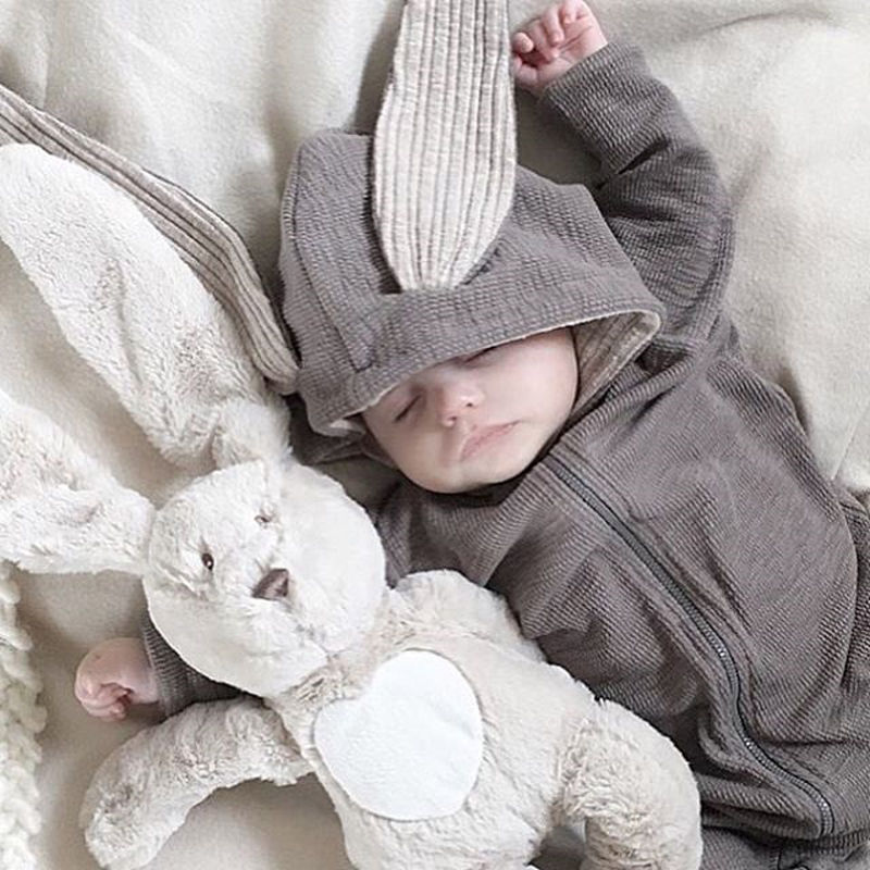 Lovely Rabbit Hooded Garment Romper