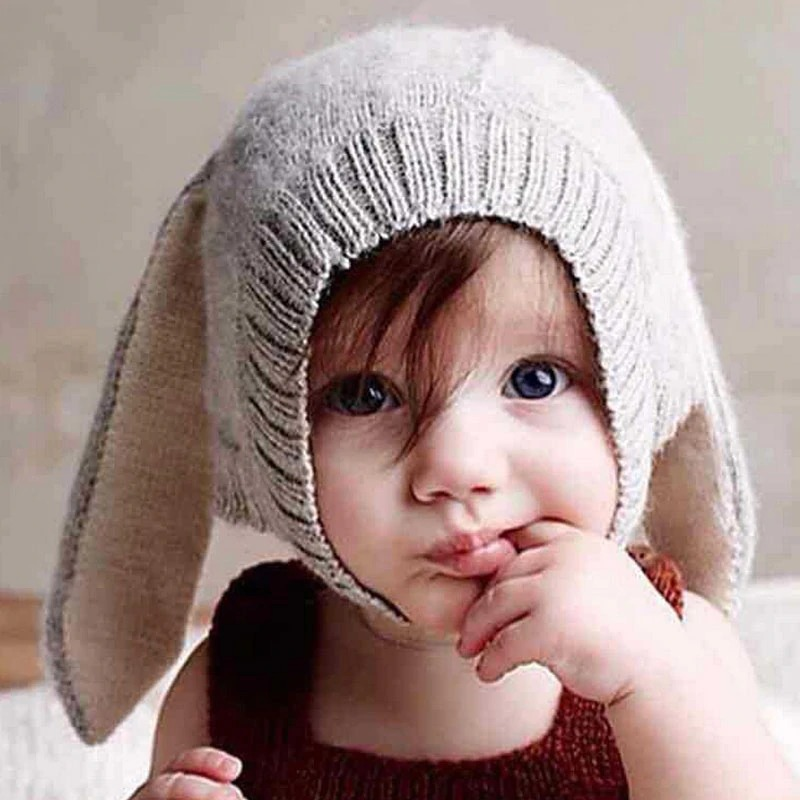 Adorable Autumn Winter Baby Toddler Infant Hat Knitted Bunny