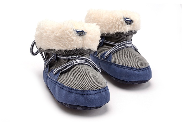 Cute Winter Warm Wool Booties Infant Shoes Baby Boys  Toddler Soft  Footwear